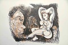 Homage to Pablo Picasso - Original Lithograph 1974