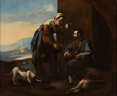 The Cobbler and the Spinner - Oil on Canvas Mid 17th Century
