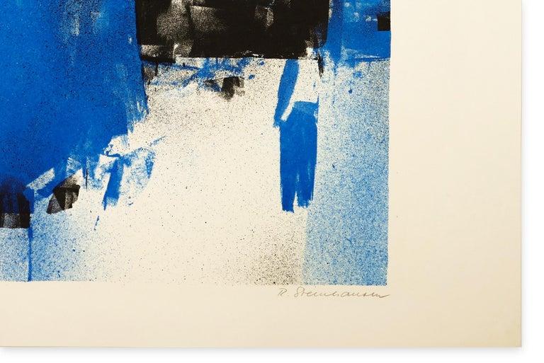 B&B - Original Screen Print 1970s  - Beige Abstract Print by Rolf Steinhausen