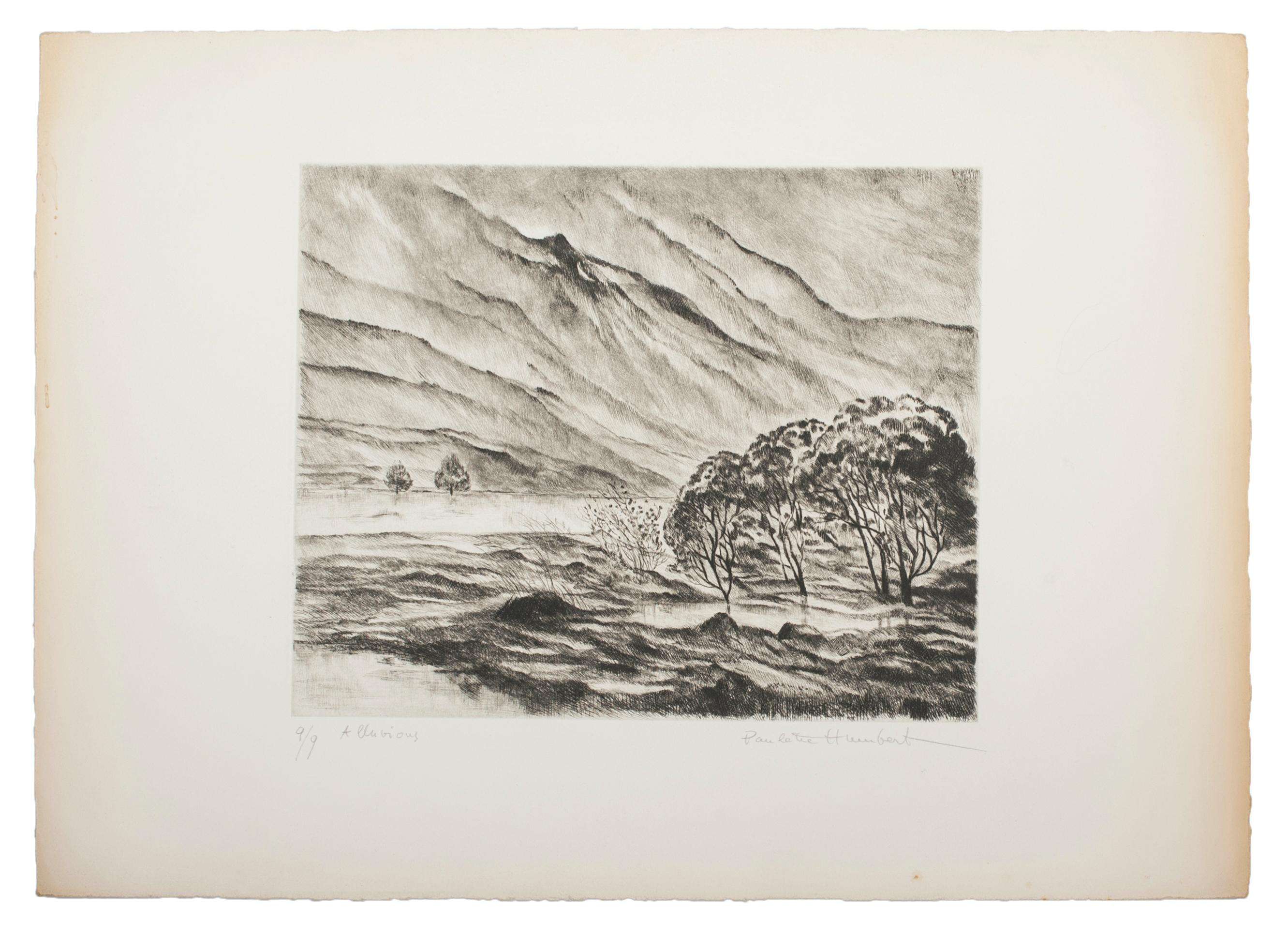 Alluvions - Original Etching and Drypoint on Paper - 1980s