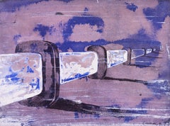 Untitled 2 - Original China Ink and Watercolor by F. Canovas - 2002