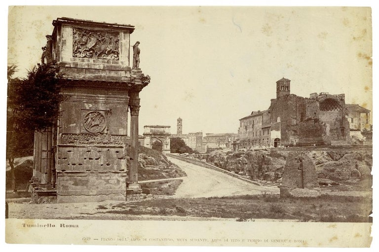 Views of Ancient Rome - Collection of 18 Vintage Albumen Prints - 1880/90 - Photograph by Lodovico Tuminello