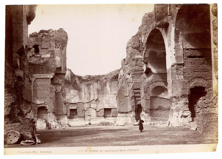 Views of Ancient Rome - Collection of 18 Vintage Albumen Prints - 1880/90 - Brown Black and White Photograph by Lodovico Tuminello
