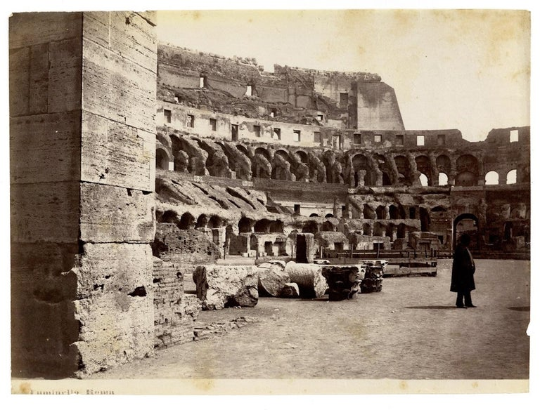 Views of Ancient Rome - Collection of 18 Vintage Albumen Prints - 1880/90 For Sale 1
