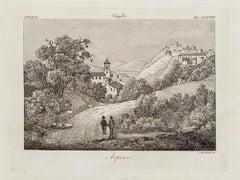 Arpino - Original Etching by Alessandro Moschetti - 1843