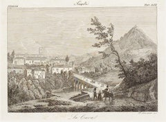 La Cava (The Cave) - Original Etching by Francesco Mochetti - 1843