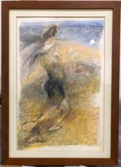 Moonlight - Original Pastel Drawing by Ennio Calabria - Late 20th Century