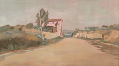 Roman Landscape - Original Oil on Board by C. D'Aloisio Da Vasto - Mid 1900