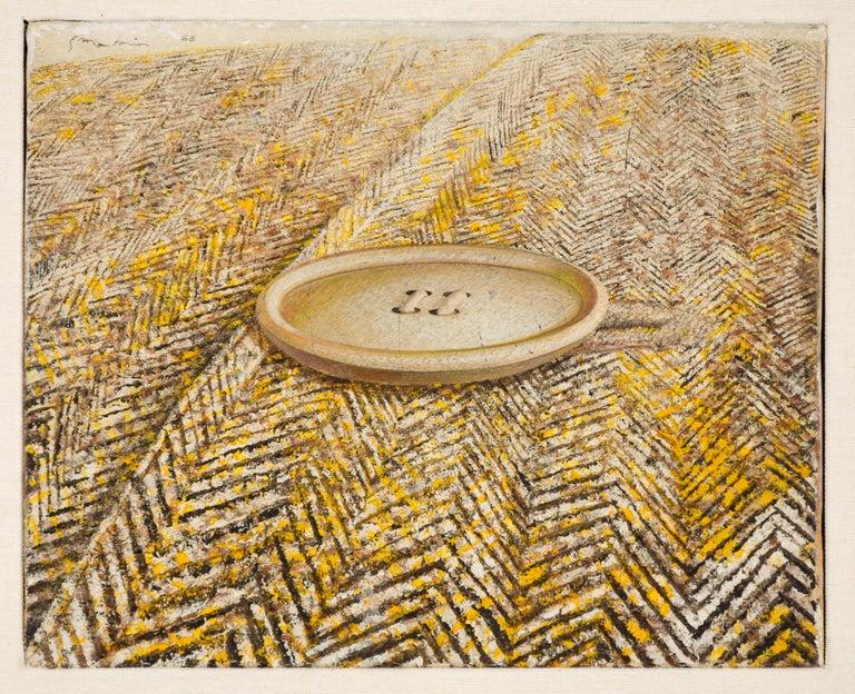 Gianluigi Mattia Figurative Painting - Button On Coat - Original Oil on Canvas by G. Mattia - 1968
