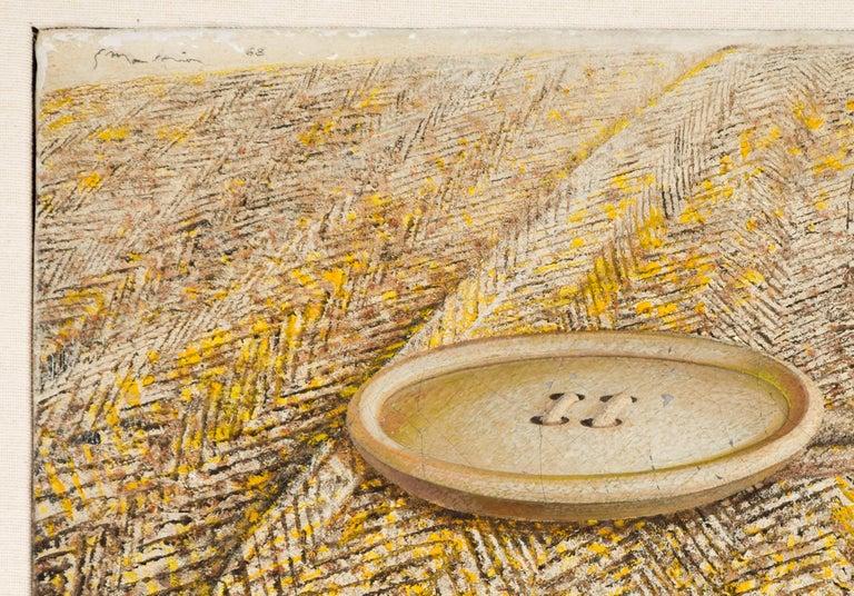 Button On Coat - Original Oil on Canvas by G. Mattia - 1968 - Contemporary Painting by Gianluigi Mattia