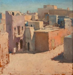 View of the Old Tripoli - Original Oil on Board - 1972