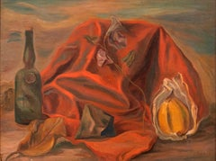 Still Life - Original Oil on Board by G. Canali - 1940