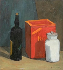 Still Life - Original Oil on Panel by E. Casali Ricchi - 1951