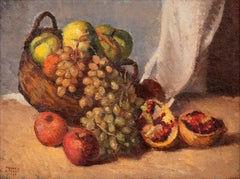 Still Life - Original Oil on Canvas by F. Girosi - 1927