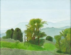 Landscape - Oil on Canvas by A. Donghi - 1937