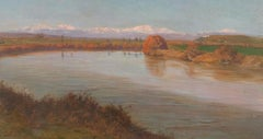 Bend of the Tiber at Prima Porta (Rome, Italy) - Oil on Canvas - 1920s