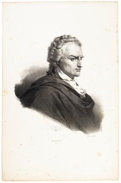 Alfieri - Original Lithograph by H. Grevedon - 1826