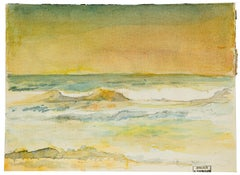 Horizon - Watercolor on Paper by H. Espinouze - mid 20th Century