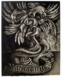 Hydra - Original Lithograph by D. These - Late 20th Century