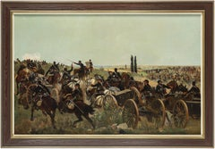 The French-Prussian War - Oil on Canvas by Raoul Arus - Late 19th Century