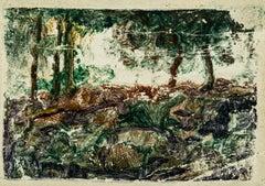 Le Bois - Original Tempera by Léon Barotte - Early 20th Century