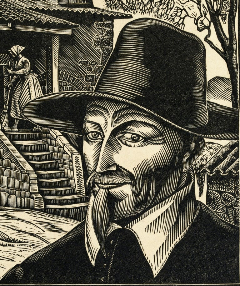 1941 - Original Woodcut Prints by Jean Chieze - Mid 20th Century For Sale 1