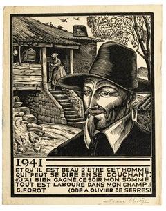 1941 - Original Woodcut Prints by Jean Chieze - Mid 20th Century