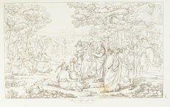 Alceo and Sappho in Elysium - Original Etching by Francesco Nenci - 1805
