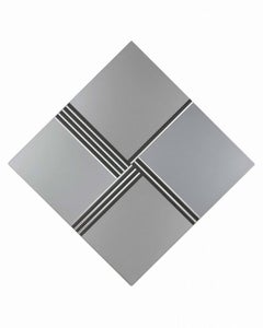 Vibrating textured surface. Rotation 1.2.3.4. - Aluminium on Panel - 1972