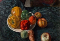 Still life with peppers - Oil on Canvas by Cagnaccio di San Pietro - 1923