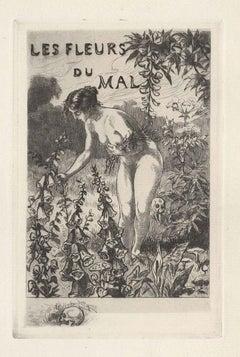 Les Fleurs du Mal - Complete Series of 12 etchings by M. Van Maele - 1917