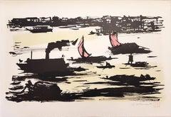 The River - Original Lithograph by Ampelio Tettamanti - 1960