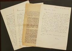 Interesting Correspondance by Victor Brauner - 1949