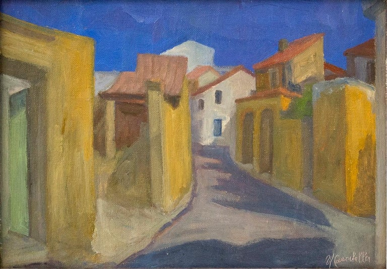 Umberto Carabella Landscape Painting - Country - Oil on Canvas by U. Carabella . Mid 20th Century