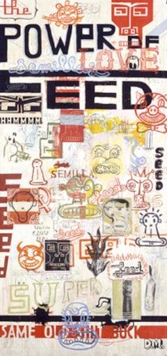Power of Seed - Mixed Media on Board by Daniele Melani - 2003