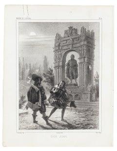 Don Juan - Original Lithograph - Mid 19th Century