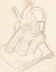 Elephant - Charoal Drawing by J.-R. Delpech - Mid 20th Century