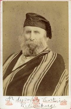 Vintage Photo-Portrait Hand Signed by Giuseppe Garibaldi - 1870s
