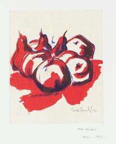 Still Life - Original Ink and Watercolor Drawing - 1962