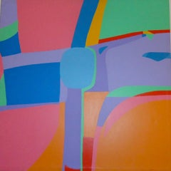 Polychrome Surface - Acrylic on Canvas by Genny Puccini - 1976