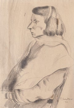 Portrait - Original Pencil Drawing by T. Gertner - 1941