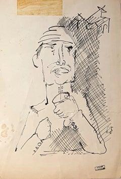 Figure - Original Ink Drawing - Mid 1900