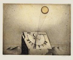 Orologium Phantasticum - Original Etching by F. Meckseper - 1965