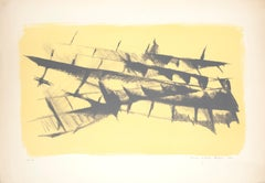 Abstract Composition - Original lithograph nu M. Celiberti - 1961