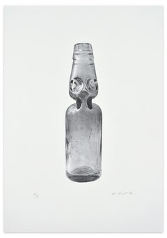 Glass Bottle - Original Photolithograph by I. Novak - 1972