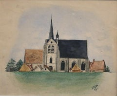 Early 1900s Landscape Drawings and Watercolors