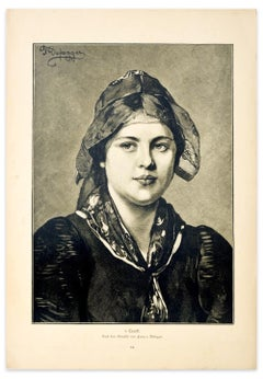 Portrait - Original Etching by F. von Defregger - 1905