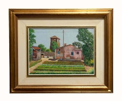 Rustic Cottage - Oil on Plywood by Franco Viola - 1980