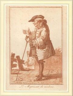Le Meprisant du Moderne - Original Etching - 1784