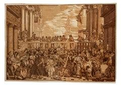 The Wedding Feast at Cana - Original Woodcut Print by J.B. Jackson - 1740